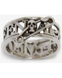 Alexander McQueen - Skull Safety Pin Ring - Lyst