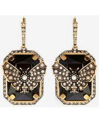Alexander McQueen Butterfly Earrings - メタリック