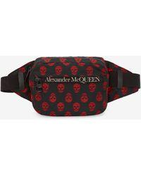Alexander McQueen Biker skull urban belt bag - Nero