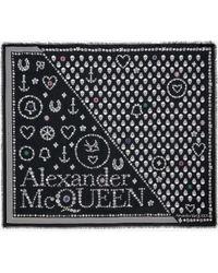 Alexander McQueen - ジュエルド ボタン スカーフ - Lyst