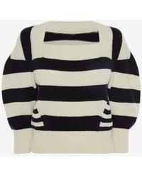 Alexander McQueen - Patchwork Stipe Knitted Top - Lyst
