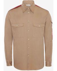 Alexander McQueen Brown Selvedge Tape Military Shirt - Natural