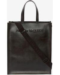 Alexander McQueen ノース サウス トートバッグ - ブラック