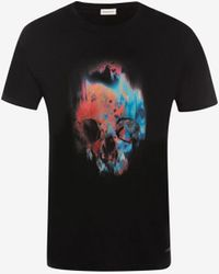 Alexander McQueen Sprayed Skull T-shirt - Black