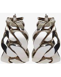 Alexander McQueen Chain Hoop Earrings - Metallizzato