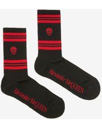 Alexander McQueen Skull sport socks - Nero