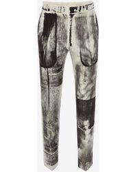 Alexander McQueen - Zigarettenhose mit Röntgenprint - Lyst