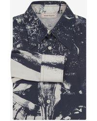 Alexander McQueen Trompe-l'œil Printed Shirt - ブルー