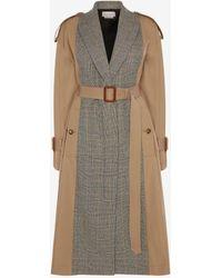 Alexander McQueen Brown Spliced Trench Coat - Natural