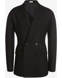 Alexander McQueen Kimono Sleeve Double-breasted Tailored Jacket - ブラック