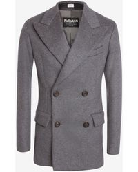Alexander McQueen Wool Felt Tailored Double-breasted Jacket - グレー