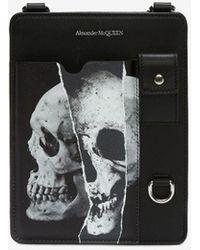 Alexander McQueen Custodia Torn Skull per Smartphone - Nero