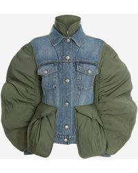Alexander McQueen Hybrid Denim Jacket - ブルー
