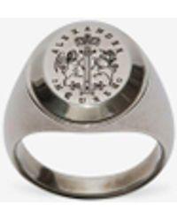 Alexander McQueen Signet Ring - メタリック