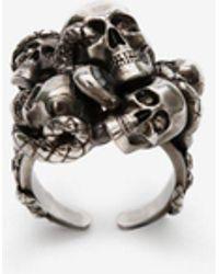 Alexander McQueen - Multi Skull & Snake Ring - Lyst