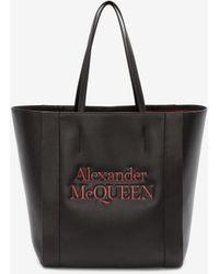 Alexander McQueen Signature Shopper - Black