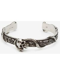 Alexander McQueen Skull and Snake Bracelet - Mettallic