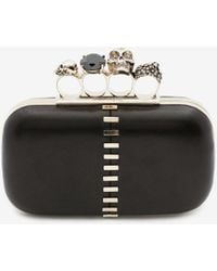 Alexander McQueen Skull Four-ring Clutch - Black