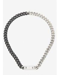 Alexander McQueen Identity Chain Necklace - Metallic