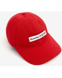 Alexander McQueen - Embroidered Selvedge Baseball Cap - Lyst