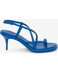 Alexander McQueen Strappy Sandal - Bleu