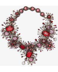 Alexander McQueen - Jewelled Rose Choker - Lyst
