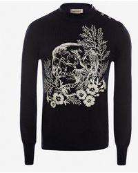 Alexander McQueen Ivy Skull Crew Neck Sweater - Multicolour