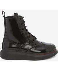 Alexander McQueen Hybrid Lace Up Boot - ブラック