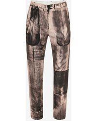Alexander McQueen Pantaloni a Sigaretta con Stampa X-Ray - Rosa