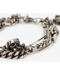 Alexander McQueen - Safety Pin And Medallion Chain Bracelet - Lyst