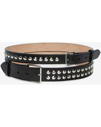 Alexander McQueen Studded Double Belt - ブラック
