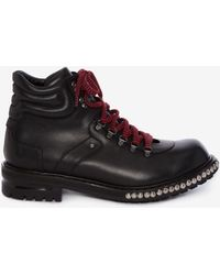 Alexander McQueen - Studded Hiking Boot - Lyst