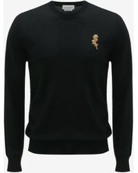 Alexander McQueen Black Gold Thistle Emboidered Sweater