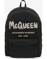Alexander McQueen Zaino McQueen Graffiti Oversize - Nero