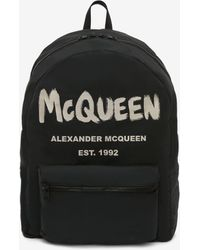 Alexander McQueen Mcqueen Graffiti Oversized Backpack - ブラック