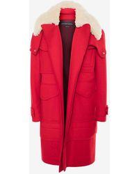 Alexander McQueen - Wool Duffle Coat - Lyst
