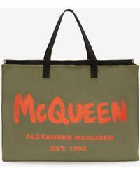 Alexander McQueen イーストウエスト マックイーン グラフィティ トートバッグ - グリーン
