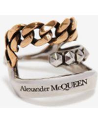 Alexander McQueen Punk ear cuff - Métallisé