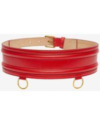 Alexander McQueen Waist Belt - Red