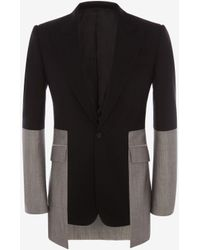 Alexander McQueen Panelled Tailored Trousers - Black
