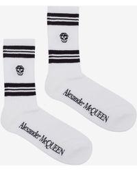 Alexander McQueen Skull Sport Socks - ホワイト