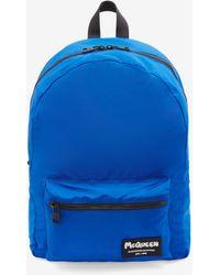 Alexander McQueen Metropolitan Mcqueen Tag Backpack - ブルー