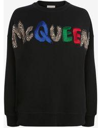 Alexander McQueen Embroidered Mcqueen Sweatshirt - ブラック