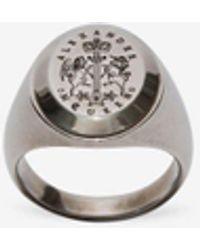 Alexander McQueen Signet Ring - Metallic