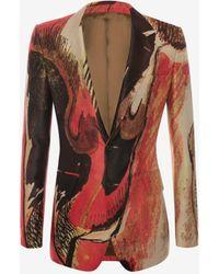 Alexander McQueen Henry Moore Printed Jacket - Rot