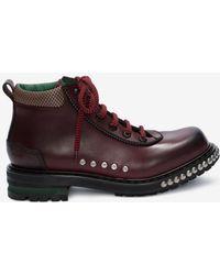 Alexander McQueen Nietenbesetzte Combat Boots - Mehrfarbig