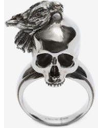 Alexander McQueen - Raven And Skull Ring - Lyst