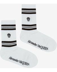 Alexander McQueen スカル スポーツソックス - ホワイト