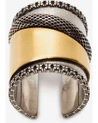 Alexander McQueen Large Mechanical Ring - Metallic