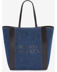 Alexander McQueen - Shoppertasche mit Signatur - Lyst